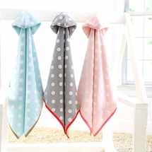 Dumbo Dot Hoodies-Kids Hooded Bath Towels<br><B>FREE SHIPPING</b>