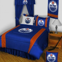 Edmonton Oilers NHL Hockey Bedding-Sidelines