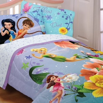 Fairies Fantasy Floral Tinkerbell Bedding For Girls