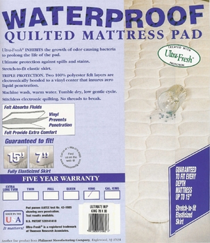 Fitted Waterproof Mattress Pad-Quilted