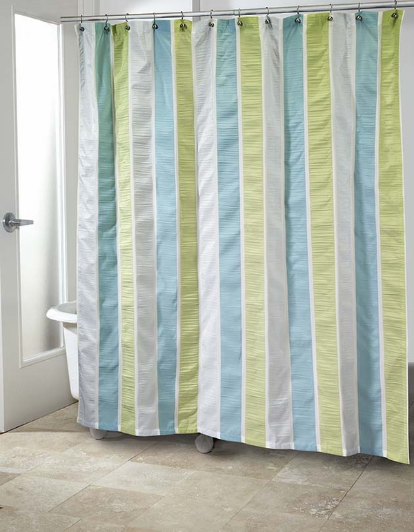 Freeport Shower Curtain By Avanti Linens Blue Green
