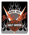 Harley-Davidson Bar & Shield Silk Touch Throw Blanket