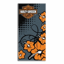 Harley-Davidson Beach Towels-Flowers
