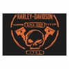 "Harley-Davidson Build Willie G Skull Piston Tufted Rug 39"" x 59"""