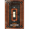 Harley Davidson Classic Single Art-Glass Switch Plate Cover