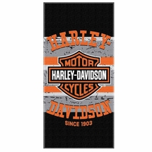 Harley-Davidson Pavement Bar & Shield Beach Towel