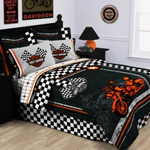 Harley Davidson® Racing Flag Bedding
