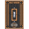 Harley Davidson® Single Art-Glass Switch Plate Cover-Bar & Shield