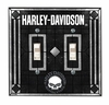 """Harley Davidson """"SKULL"""" Double  Switch Plate Cover"""
