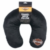 Harley-Davidson Travel Neck Pillow, Black- Embroidered Bar & Shield