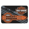Harley-Davidson Tune Up Bar & Shield Round Edge Rug, 20 x 30 Inch Black