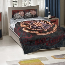 "Harry Potter ""School Motto"" Comforter/Sham Set  Twin/Full Size"
