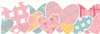 Heart To Heart - Pink Wall Border