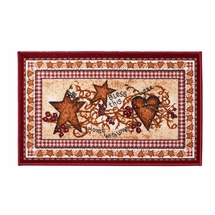 Hearts and Stars Bathroom Rug