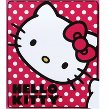 Hello Kitty Polka Dot Fleece Throw
