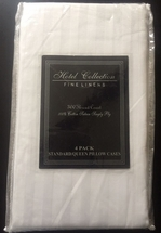 Hotel Collection T-300 100% Sateen Cotton Pillowcases Standard/Queen Size-4 Pack