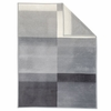 "Ibena ""Sorrento"" Grey/White Block Stripe Throw <BR>59"" x 78"""