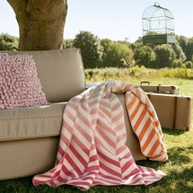 Ibena Sorrento Pastel Chevron Jacquard Throw