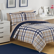 Izod Preppy Plaid Comforter Set
