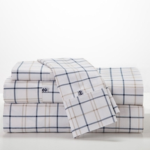 Izod-Windowpane Plaid Sheet Set