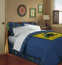 John Deere Bedding for Kids- Blue Denim