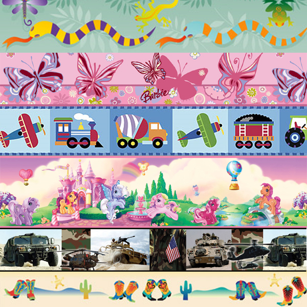 Kids Wallpaper Border, Childrens Wallpaper Border, Childrens ...