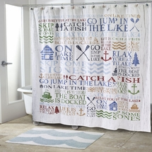 Lake Words Shower Curtain & Accessories