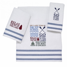 Lake Words Towels by Avanti