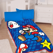 Leaping Mario Blanket