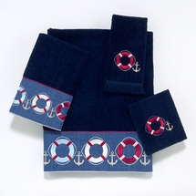 Life Preservers Navy Cotton Towel Ensemble by Avanti Linens