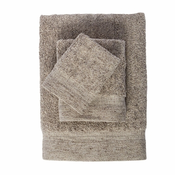 Linen 3 Pc Towel Collection By Caro Home<BR><b>FREE SHIPPING</b>