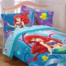 "Little Mermaid ""Shimmer & Gleam"" Girls Twin/Full Comforter"