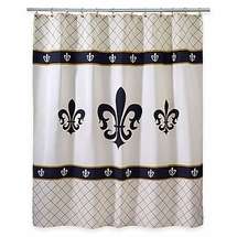 Luxembourg Fleur De Lis Shower Curtain by Avanti Linens