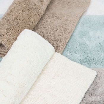 Caro Home Luxury Reversible Cotton Bath Rugs<br>Free Shipping