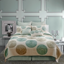 Madison 100% Cotton Quilt  by Nostalgia Home Fashion-Teal