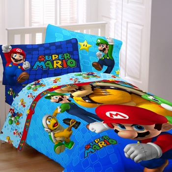 Mario fresh look comforter twin full Whats bigger full or twin