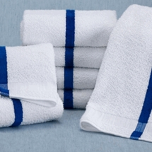 "Martex® Blue Center Stripe Pool Towel 20""W x 40""L Pkg of 12"