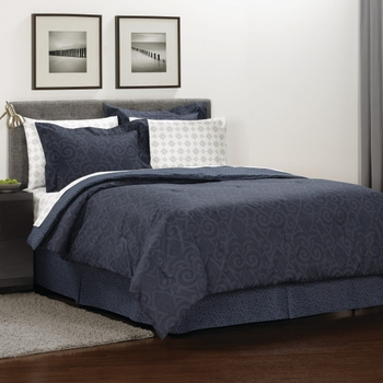 Martex Iron Gate Bed-In-A-Bag-Navy