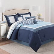Martex Luxury Carsten Blue 7 Piece Comforter Set