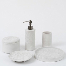 Medici Matte Porcelain Bath Accessories By Caro Home<br>FREE SHIPPING