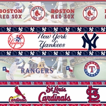 MLB Baseball Wall Borders