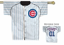 MLB Chicago Cubs 2-Sided Jersey Flag