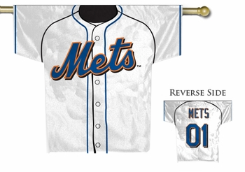 MLB New York Mets 2-Sided Jersey Flag