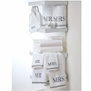 Mr. & Mrs. Towel Gift Set-White