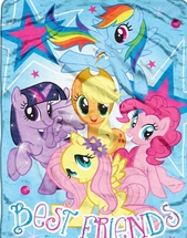 "My Little Pony ""Best Friends"" Micro Raschel Throw  46"" x 60"""