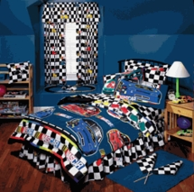 Nascar Checkered Flag Twin Comforter