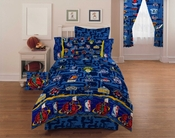 NBA HOOPS  Twin Bedskirt-Basketball