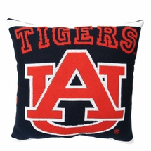 "NCAA Auburn University ""Tigers"" 20"" Square Decorative Woven Pillow"