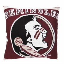 "NCAA Florida State University ""Seminoles"" 20"" Square Decorative Woven Pillow"