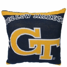 "NCAA Georgia Tech ""Yellow Jackets""  20"" Square Decorative Woven Pillow"